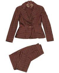 Dior - Vintage Burgundy Silk Jacket - Lyst