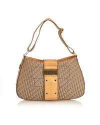 Dior - Brown Cloth Handbag - Lyst