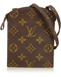 Louis Vuitton - Vintage Brown Cloth Purses, Wallets & Cases - Lyst