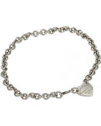 Tiffany & Co. - Return To Tiffany Silver Necklace - Lyst
