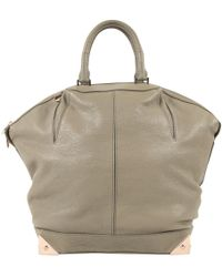 Alexander Wang - Emile Grey Leather Handbag - Lyst