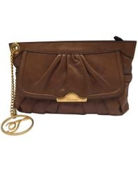 Temperley London - Brown Leather Clutch Bag - Lyst