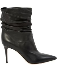 Gianvito Rossi - Black Leather Boots - Lyst