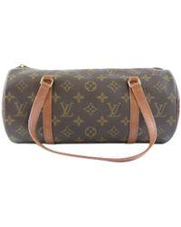 7c2452a50913 Louis Vuitton - Pre-owned Vintage Papillon Brown Cloth Handbags - Lyst