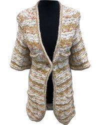 Chanel - Beige Viscose Knitwear - Lyst