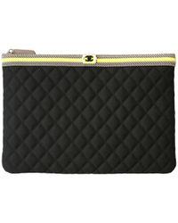 Chanel - Cloth Clutch Bag - Lyst