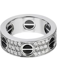 Cartier - Love White White Gold Ring - Lyst