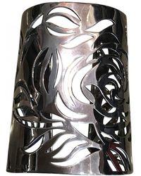 Chanel - Pre-owned Camélia Silver Bracelet - Lyst