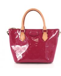 522939b9bc44 Louis Vuitton - Pre-owned Pink Patent Leather Handbags - Lyst