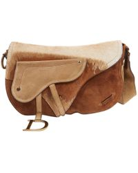 292ce8a7e81a Dior - Pre-owned Saddle Brown Suede Handbags - Lyst