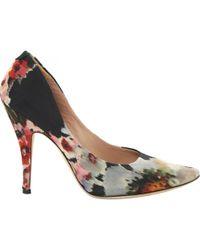 Lyst - Chaussures a talons hauts en suede beiges Sully Acne Studios 6eedbb6dfb3