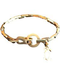 Cartier - Agrafe Yellow Gold Bracelet - Lyst