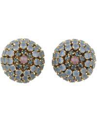 Dior - Vintage Purple Glass Earrings - Lyst