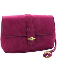 Loro Piana - Pink Suede Clutch Bag - Lyst