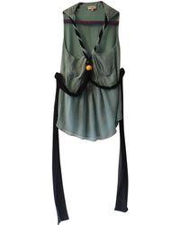 Etro - Turquoise Silk Top - Lyst