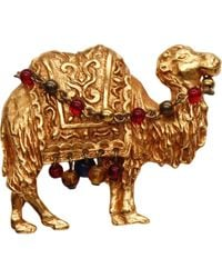 Dior - Vintage Gold Metal Pins & Brooches - Lyst