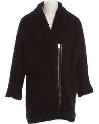 IRO - Black Cotton Coat - Lyst