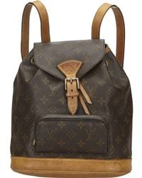 Louis Vuitton Pre-owned Montsouris Cloth Backpack