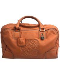 Loewe - Amazona Orange Leather Handbag - Lyst
