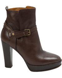 Ralph Lauren Collection - Brown Leather Heels - Lyst