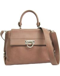 0a473f565e6b Ferragamo - Sofia Brown Leather Handbag - Lyst