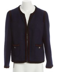 Chanel - Pre-owned Navy Wool Jackets - Lyst