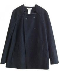Chloé - Black Polyester Coat - Lyst