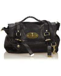 92949e3642d1 Mulberry - Alexa Black Leather Handbag - Lyst