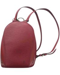 Louis Vuitton - Vintage Red Leather Backpacks - Lyst