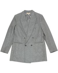 Michael Kors - Pre-owned Grey Wool Coats - Lyst