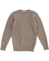 Céline - Pre-owned Beige Knitwear - Lyst