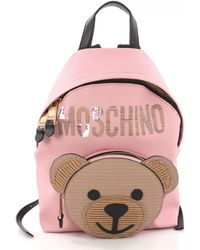 Moschino - Pre-owned Pink Leather Backpacks - Lyst