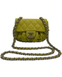 Chanel Green Quilted Leather  cc  Shoulder Bag in Green - Save 11 ... 6dde1b2d90313