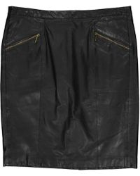 MICHAEL Michael Kors - Leather Mid-length Skirt - Lyst