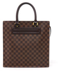 2a904e294038 Damier Ebene Canvas Venice Gm.  950. Gilt · Louis Vuitton - Pre-owned  Venice Brown Cloth Handbags - Lyst