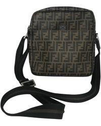 Fendi - Ff Brown Cloth Handbag - Lyst