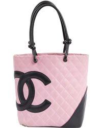 Chanel - Cambon Pink Leather Handbag - Lyst