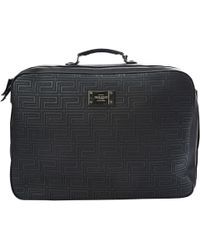 Versace - Black Leather Travel Bag - Lyst