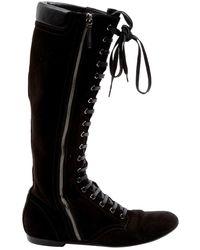 Barbara Bui Black Suede Boots