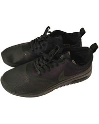 low priced 9a8b5 4966a Nike - Air Max Black Polyester Trainers - Lyst