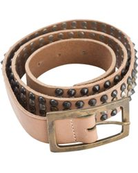 Zadig & Voltaire - Pre-owned Beige Leather Belt - Lyst