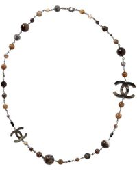Chanel - Brown Other Necklace - Lyst