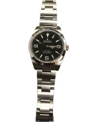 Rolex - Pre-owned Explorer 39mm Watch - Lyst