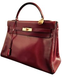 Hermès - Pre-owned Kelly Leather Crossbody Bag - Lyst