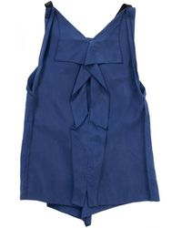 Roland Mouret - Pre-owned Navy Silk Top - Lyst