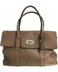 55979af1e623 Mulberry - Pre-owned Brown Leather Handbags - Lyst