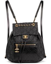 Chanel - Blue Denim - Jeans Backpacks - Lyst
