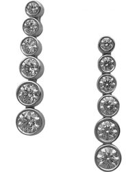 Tiffany & Co. - Platinum Earrings - Lyst