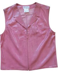 Chanel - Pre-owned Leather Short Vest - Lyst