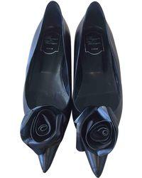 Roger Vivier - Black Leather Ballet Flats - Lyst
